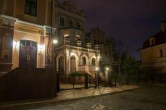 House on Vozdvizhenka. Night, twilight stock photography