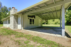 House with walkout basement and vaulted ceiling Stock Photo