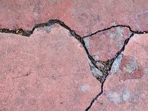 House wall cracked surface texture earthquake damage Royalty Free Stock Image