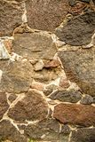 Wall with granit stones. House wall with granite stones Royalty Free Stock Images