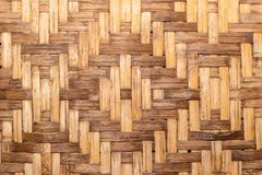 House wall made from pieces of bamboo royalty free stock image