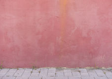 House wall red colored background Royalty Free Stock Photography