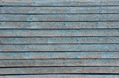 House wall with shabby light blue planks, texture Stock Image