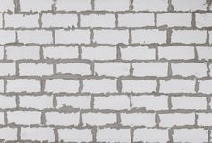 House wall textued background from autoclaved aerated concrete blocks. Stock Images