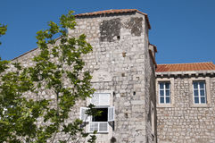 House in the Walled City of Dubrovnic in Croatia Europe. Dubrovnik is nicknamed `Pearl of the Adriatic. Dubrovnik is one of the most beautiful towns in the Stock Photography