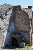 House Walls, Pompeii Archaeological Site, nr Mount Vesuvius, Italy Stock Image