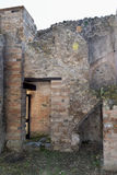 House Walls, Pompeii Archaeological Site, nr Mount Vesuvius, Italy Royalty Free Stock Images