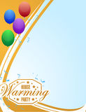 House warming party balloons background sign card Stock Photo