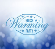 House warming party bokeh background Stock Images