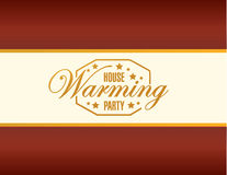 House warming party card background sign Royalty Free Stock Photo