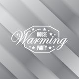 House warming party metallic card background sign Royalty Free Stock Photo
