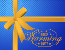 House warming party ribbon background sign Royalty Free Stock Image