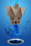 House washing down drain Royalty Free Stock Photography