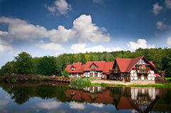 House on water Royalty Free Stock Photo