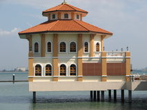 A house on the water. A Malaysian house on the water Stock Images