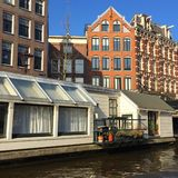 House on water in Amsterdam Stock Photo