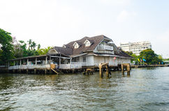House on water. Bangkok, Thailand Royalty Free Stock Photography