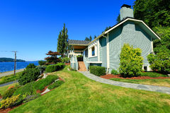 House with water front view. Port Orchard town, WA Stock Photos