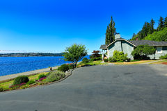 House with water front view. Port Orchard town, WA Stock Photo