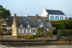 House on the water in Saint Cado, Brittany, France Royalty Free Stock Images
