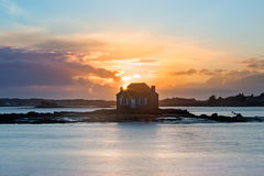 House on the water in Saint Cado, Brittany, France Stock Photography