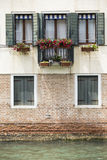 House beside water at Venice. Royalty Free Stock Photos
