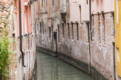 House beside water at Venice. Italy Stock Photo