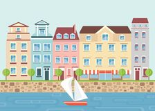 House on waterfront Royalty Free Stock Image