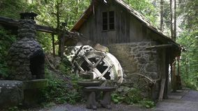 House with watermill and furnace on hiking trail