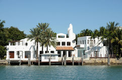 House waterside in Florida Stock Image