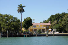 House waterside in Florida Stock Photo