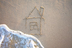 House & Wave Royalty Free Stock Photo