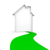 House and way. House and a green way Royalty Free Stock Photos