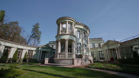 House of a wealthy family. Dolly shot. House of a wealthy family shot with slider stock video