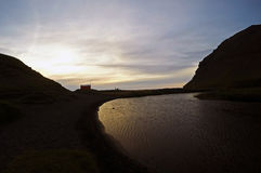 house in Westfjords Iceland Stock Photography