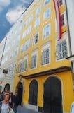 House where Mozart was born royalty free stock photo