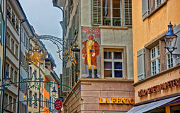 House where Wolfgang von Goethe stayed during his visit to Lucerne Stock Photo
