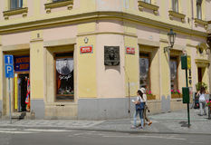 The house in which the writer Franz Kafka was born. Prague Royalty Free Stock Photo