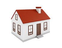 House on the white Stock Photography