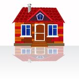 House on white background Royalty Free Stock Photography