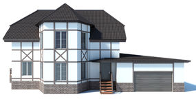 House on a white background. 3D Illustration Royalty Free Stock Photography