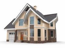 House on white background. Three-dimensional image royalty free illustration