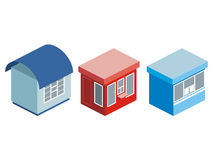 House on a white background. Vector illustration Stock Photos
