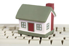 House and white keyboard Royalty Free Stock Photography
