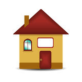 House  on white. Model of the house with a sign for your text  on white Royalty Free Stock Photos