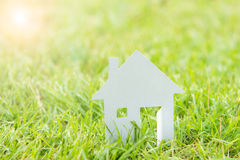 House white paper cut concept Royalty Free Stock Photo