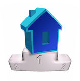 House on the white podium Royalty Free Stock Image