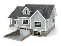 House  on white. Real estate concept. Stock Photos