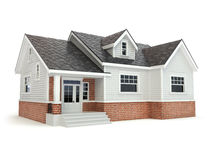 House  on white. Real estate concept. Royalty Free Stock Photography