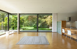 House, wide living room. Interior of a modern house, wide living room Stock Photography